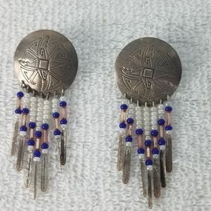 Jewelry - Vntg Native American Sterling Silver Earrings